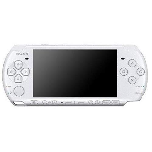 Sony PSP Slim and Lite 3000 Series Handheld Gaming Console with 2 Batteries and Memory Card (Renewed) (White)