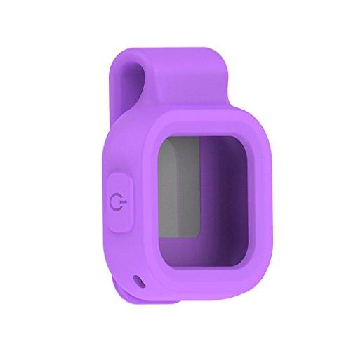 Hunpta Ersatz Silikon Clip Cover Case Tasche Farbfeld für GoPro REMO Fernbedienung Lila