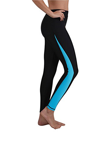 Ladies Swim Jammer Leggings Blue - Pants Womens Wetsuit