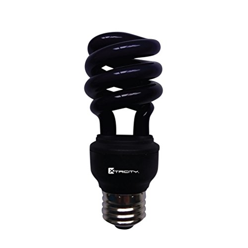 CFL Compact Fluorescent Colored Light Bulb, T2 Spiral, 13W (60 Watt Equivalent), E26 Medium Base, 120V, UL Listed, Black Light - UV (1 Pack)
