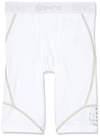SKINS Baby Boys' DNAmic Compression Team Half 1/2 Tights Capri Shorts, White, R0S