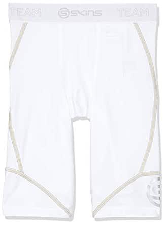 SKINS Baby Boys' DNAmic Compression Team Half 1/2 Tights Capri Shorts, White, R0S