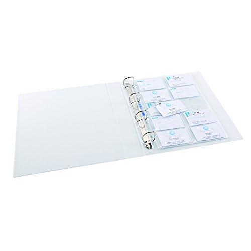 Veloflex 5341000 Pack De 10 Pochettes Pour 20 Cartes Visite Format A4 Import