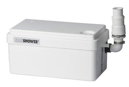Saniflo Gray Water Pump, Light Duty Sanishower SN-010: H 5 3/4