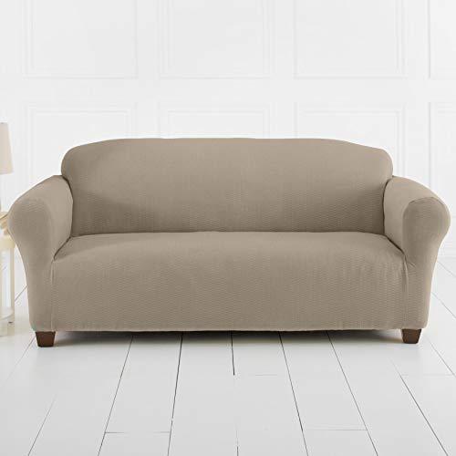 BrylaneHome Bh Studio Brighton Stretch Sofa Slipcover - Stone