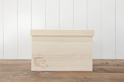 木製ブレッドケース 2斤:スライス食パンGoodMorning