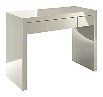 fb8af3b3bec Puro High Gloss Dressing Table Desk in Neutral Stone  Amazon.co.uk  Kitchen    Home