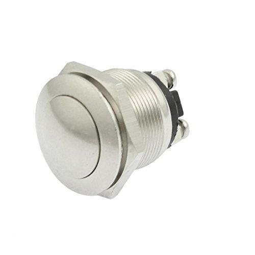 eDealMax a12052800ux0096 AC 250V 5A apagado 2 terminales de tornillo (A) Sin 19mm Metal momentneo Push Button