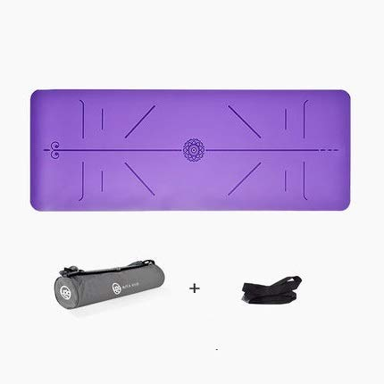 非スリップ天然ゴムヨガマット万能泡フィットネスクッションピラティスエクササイズトレーニングに適した (色 : 紫の)  紫の B07PYPFXYQ
