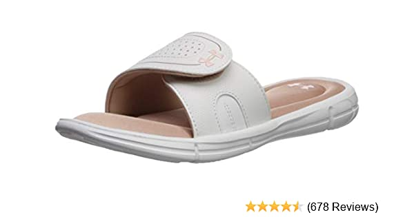 1110471ca65 Amazon.com  Under Armour Women s Ignite VIII Slide Sandal  Shoes