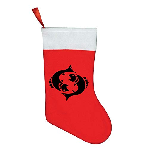 (buxten Small Christmas Socks Boots Gift Bags Santa Claus Snowman Pisces Socks Fireplace Spangle Decorative)