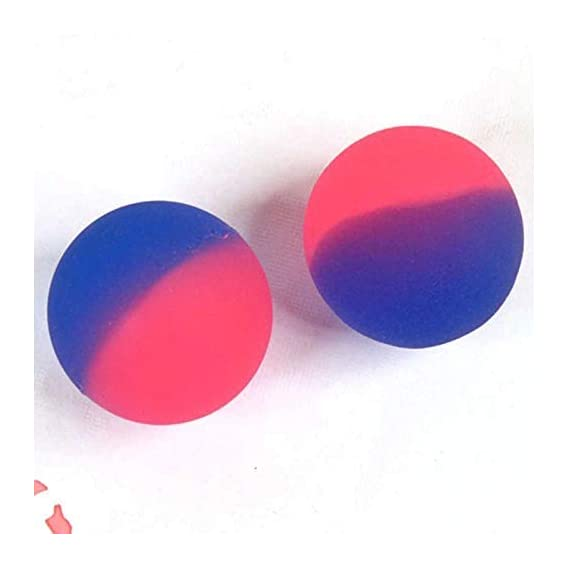 Desi Commodity 40 MM Kids Hobby Colorful Bouncy Balls, Stress Reliever Fun Play Balls (Pack of 2, Random Color)