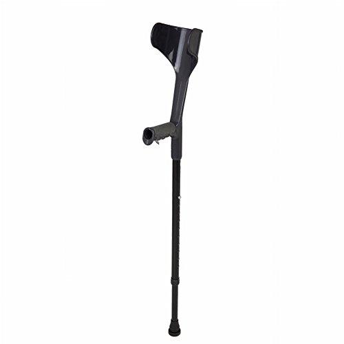 Gracefulvara Height Adjustable Elbow Crutches Open Cuff Crutches Comfy Handle Walking Aid (Black) by Gracefulvara