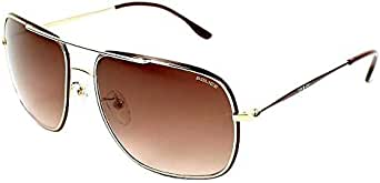 Police Aviator Sunglasses POLICE S8638-0H12 Lens Color Brown 100 percent UV Protection Mens Size 60mm-16mm-140mm