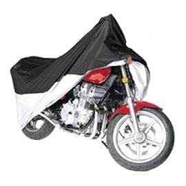 Vehicore Motorcycle Cover for Harley Davidson Sportster XL 883 Black/Silver w/ Lock & Cable