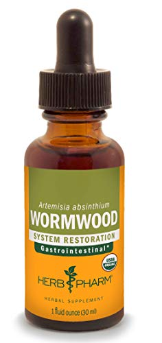 Herb Pharm Certified Organic Wormwood Liquid Extract for Digestive System Support - 1 Ounce ()