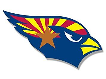 MAGNET Cardinals SHAPED Arizona State Flag Magnet 3 x 5 inch