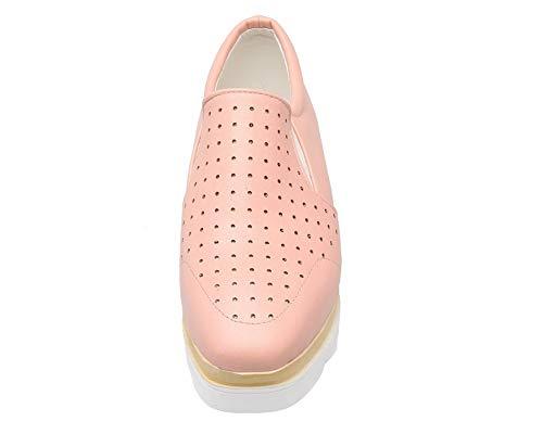 TSFDH005745 Chaussures Légeres Matière Rose Correct à Mélangee Femme AalarDom Talon 8wfZZ6