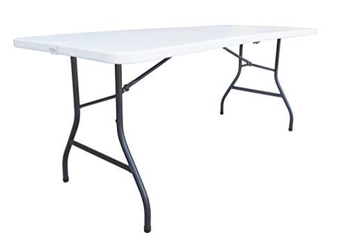 Alera Fold-in-Half Resin Folding Table, 71w x 30d x 29h, Whi