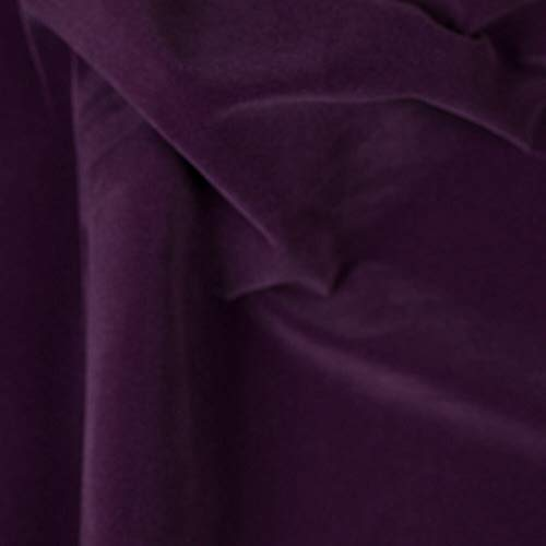 """Purple Velvet Flocking Drapery Upholstery Fabric - Sold By The Yard - 60"""""""