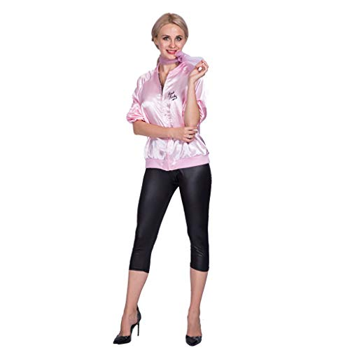 NQBRNG Party Women's 1950 Pink Lady Jacket Halloween Costume