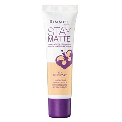 (3 Pack) RIMMEL LONDON Stay Matte Liquid Mousse Foundation - True Ivory