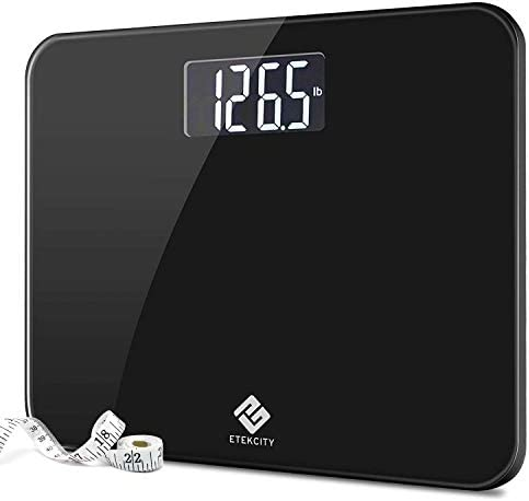 Etekcity High Precision Digital Body Weight Bathroom Scale with Ultra Wide Platform and Easy-to-Read Backlit LCD, 440 Pounds