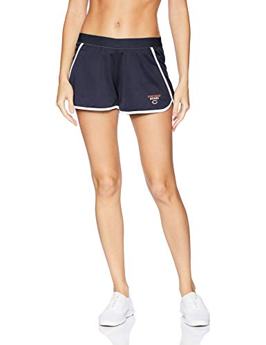(OTS NFL Chicago Bears Female Poly Dot Sport Shorts, Fall Navy, Small)