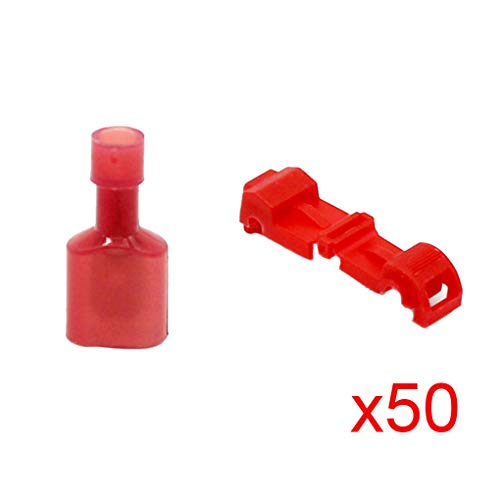 Topker 100pcs Plastic Quick Splice Wire Connector Terminals Electric Wire Insulated Connector Kit: Kitchen & Home