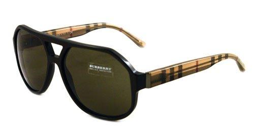 Amazon.com: Burberry anteojos de sol BE 4091 Beige 3081/3 ...