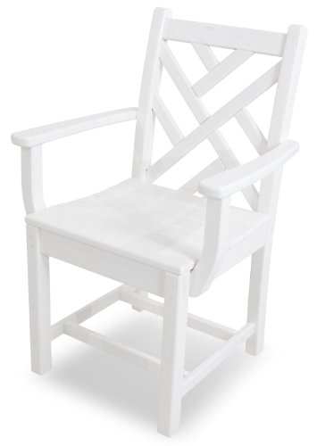 - POLYWOOD CDD200WH Chippendale Dining Arm Chair, White