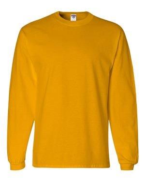 Jerzees mens 5 oz. HiDENSI-T Long-Sleeve T-Shirt(363L)-GOLD-2XL