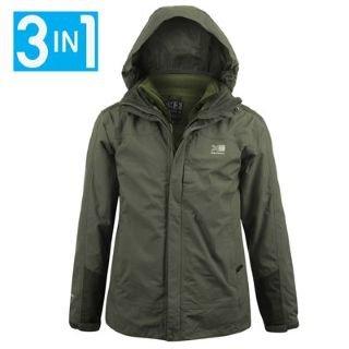 Mens Green Waterproof Jacket - Coat Nj