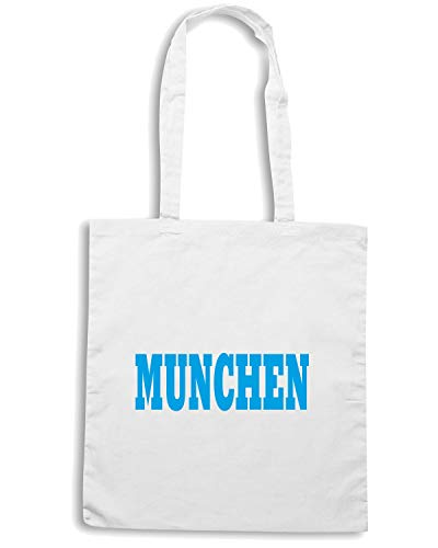 Speed Shirt Borsa Shopper Bianca WC0789 MUNCHEN GERMANY CITY FOOTBALL