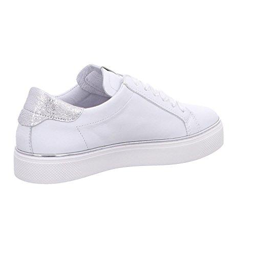 Cuir Sneakers en 35830200 ALPE Blanc 4U5wgq1