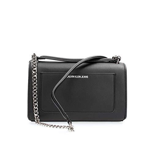 Bandolera Logo Sculpted K60k60525 Black Mujer Calvin Klein IHgxww