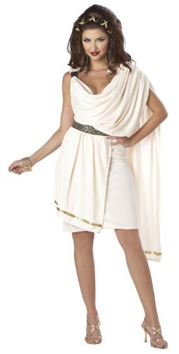 Ladies Toga Costumes (California Costumes Women's Deluxe Classic Toga Tunic, Cream, Small Costume)
