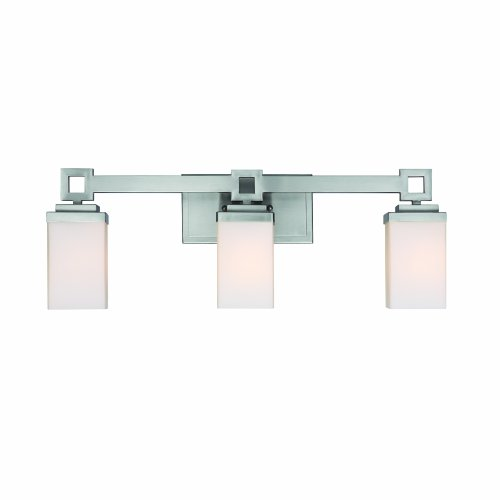 New Flush Mount Brushed Nickel Modern Frosted Bathroom Vanity Light Fixture Contemporary Sleek Dimmable Design Vertical or Horizontal LED Tube Wall Sconce 3000K Warm White 24