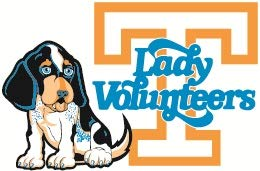 - 3 inch Lady Volunteers Power T Decal UT Vols University of Tennessee Logo TN Removable Wall Sticker Art NCAA Home Room Decor 3 1/2 by 2 inches