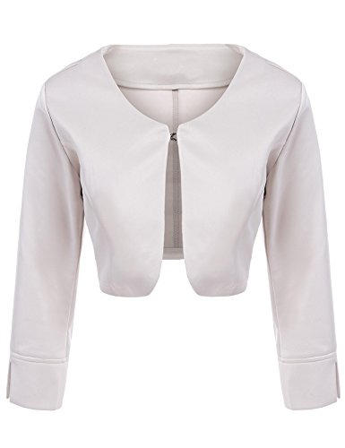 Asatr Women's Long Sleeve Dressy Open Front Bolero Shrug Top Jacket by Asatr (Image #1)