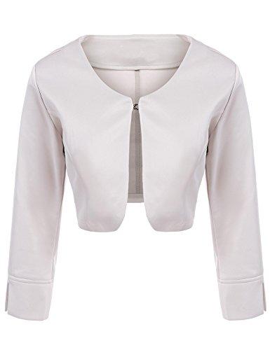 Asatr Women's Long Sleeve Dressy Open Front Bolero Shrug Top Jacket by Asatr