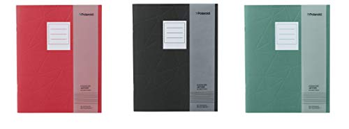 Polaroid Notepad - Polaroid Softcover Exercise Jotter Notebook Planner - Set of 3 - Colors Vary