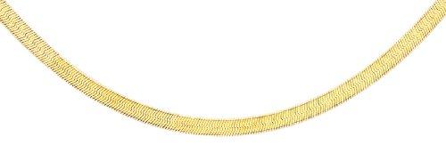 Carissima Gold Damen-Fischgrätkette 9ct Plain Herringbone Chain 375 Gelbgold 46 cm - 1.11.0184