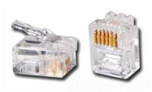 Allen Tel Products AT6X6DEC 6COND 6POS MOD PLUG (Tel Plugs Mod)