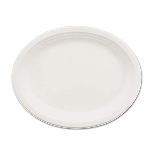 (Chinet 21257 Classic Paper Dinnerware, Oval Platter, 9 3/4 x 12 1/2, White, 500/Carton)