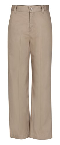 Uniform Khaki Girls Flat Front - 9