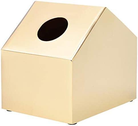 Zxyan ティッシュケース おしゃれ ホルダー ファッションシンプルなソリッドカラー小さな家の形のティッシュボックスパーソナライズ文学ペーパータオルストレージボックス おもしろ 卓上 収納 便利 インテリア 家庭事務室に適しています