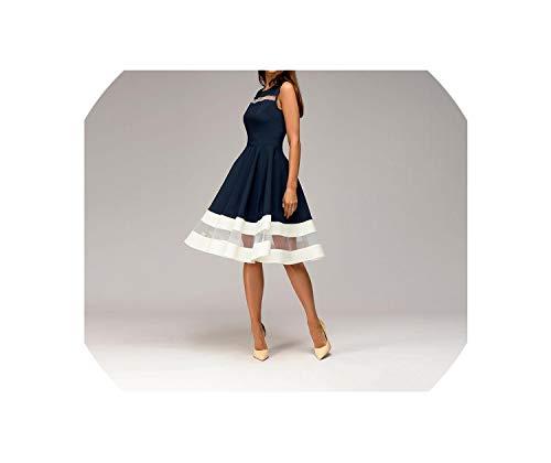 Fairly Sexy Mesh Dress O Neck Slim Elegant sleevelessKnee Length a-line,as picture3,XXL