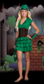 Robyn da Hood Costume - Teen X-Small -