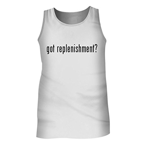 Tracy Gifts Got replenishment? - Men's Adult Tank Top, White, Large (Samsung Battery Replenish)